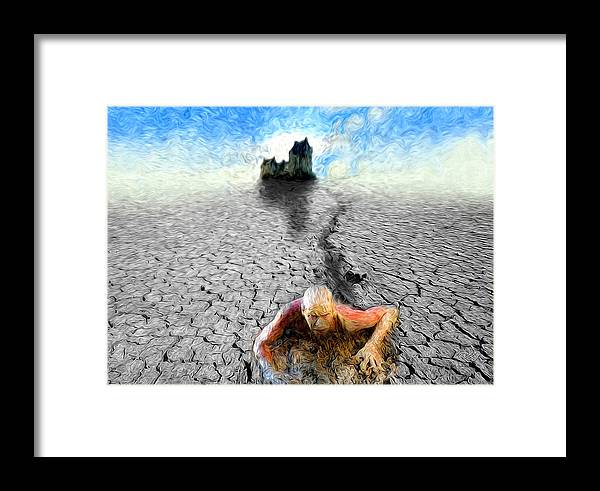 Past Framed Print featuring the painting I Am Not My Past by Robby Donaghey