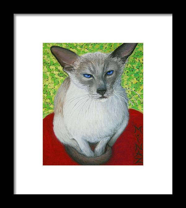 Siamese Framed Print featuring the painting I Am Siamese If You Please by Minaz Jantz