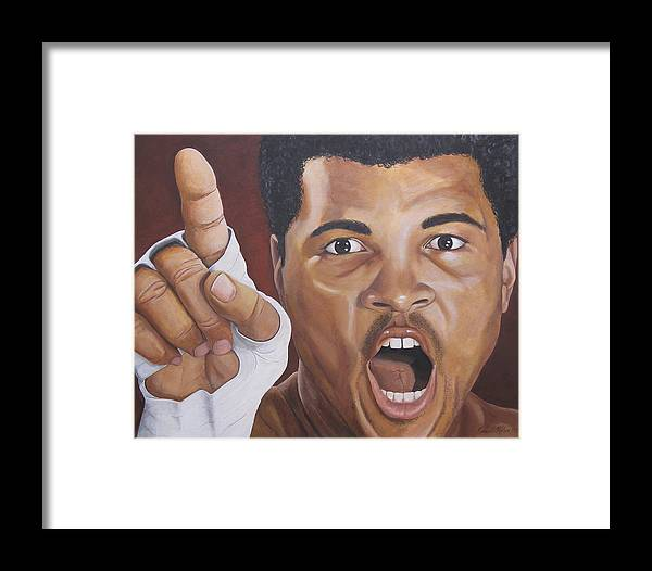 The Greatest Framed Print featuring the painting I Am The Greatest 2 by Kenneth Kelsoe