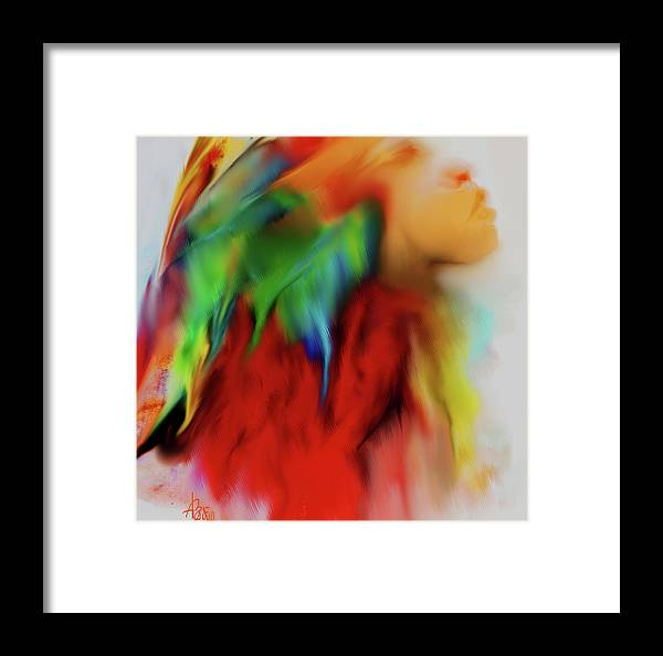 Face Framed Print featuring the digital art I Am by V Bodie