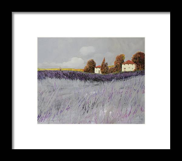 Lavender Framed Print featuring the painting I Campi Di Lavanda by Guido Borelli