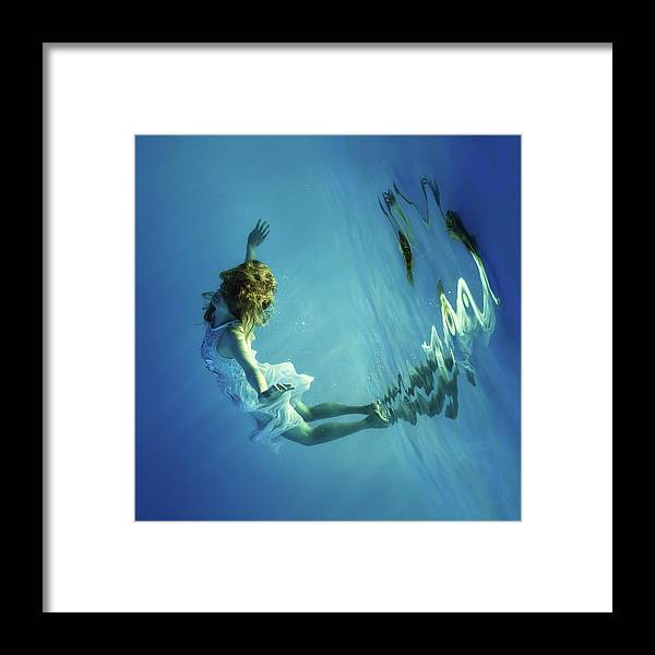 Girl Framed Print featuring the photograph I Can Fly by Dmitry Laudin