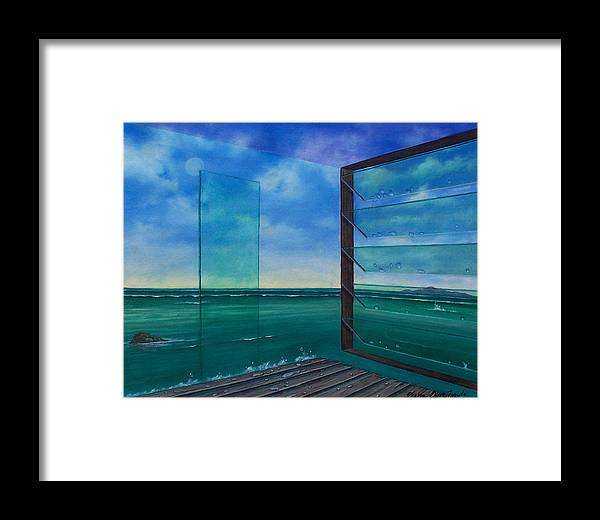 Surreal Painting Framed Print featuring the painting I Can See Clearly Now by Sharon Ebert