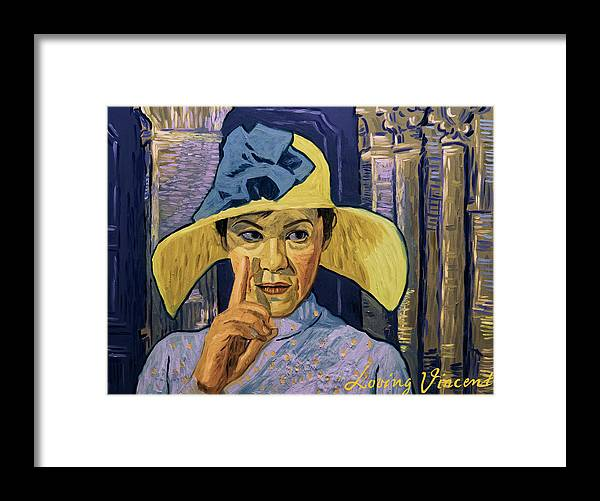 Framed Print featuring the painting I Could See The Fever in His Eyes by Andrii Makedon