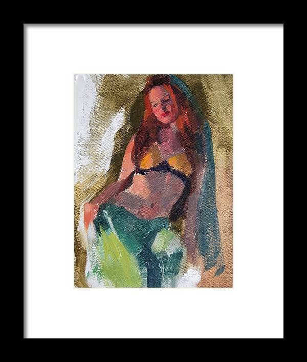 Figurative Framed Print featuring the painting I Dream Of Genie by Merle Keller
