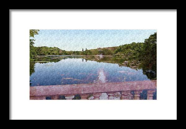 Lake Framed Print featuring the mixed media I Dreamed Of A Lake by Stacie Siemsen