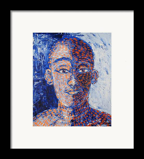 Man Framed Print featuring the painting I Fool Myself by Rollin Kocsis