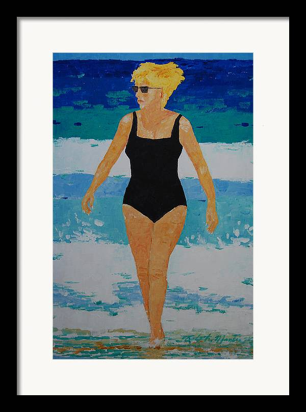 Beach Art Framed Print featuring the painting I Got A Woman by Art Mantia