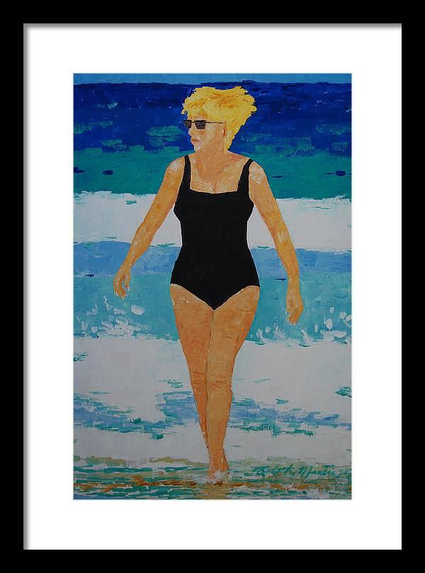 Beach Art Framed Print featuring the painting I Got A Woman by Art Mantia