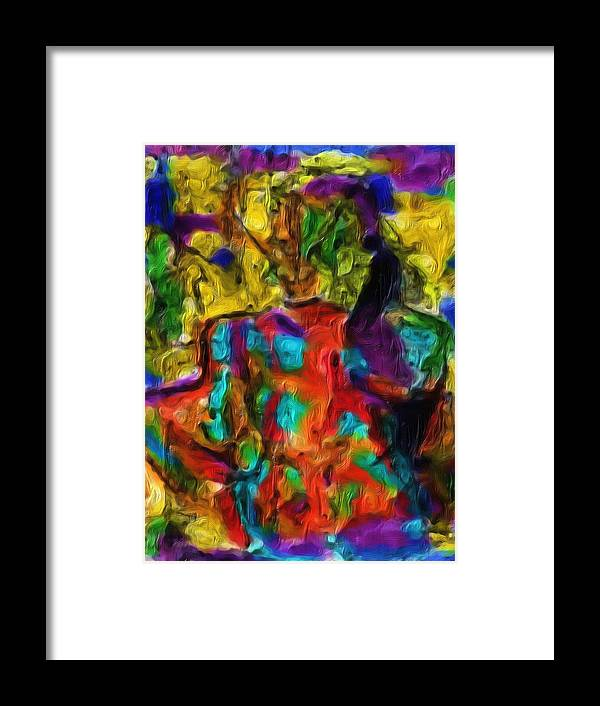 Acrylic Woman Framed Print featuring the painting I Have Had A Really Bad Week by Shelley Bain
