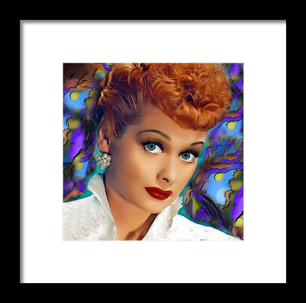 Lucy Framed Print featuring the digital art I Love Lucy by Karen Showell