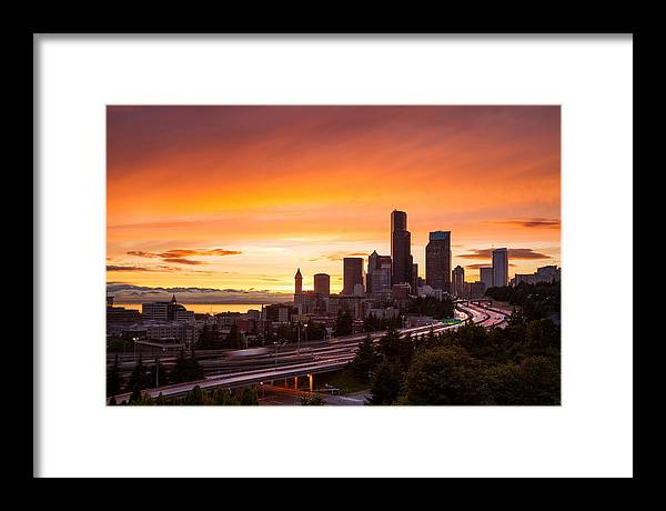City Framed Print featuring the photograph I Love Seattle by Thorsten Scheuermann