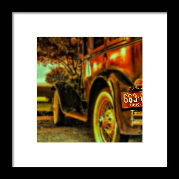 Popularpic Framed Print featuring the photograph I Love This #classiccar Photo I Took In by Pete Michaud