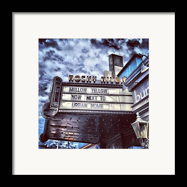 Beautiful Framed Print featuring the photograph I Love This #sign From A #city Outside by Pete Michaud
