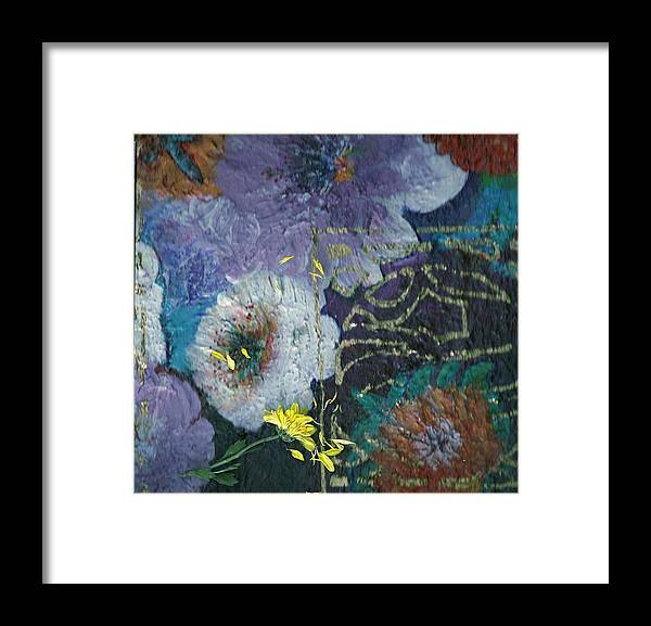 Flowers Framed Print featuring the mixed media I Love You Just The Way You Are by Anne-Elizabeth Whiteway