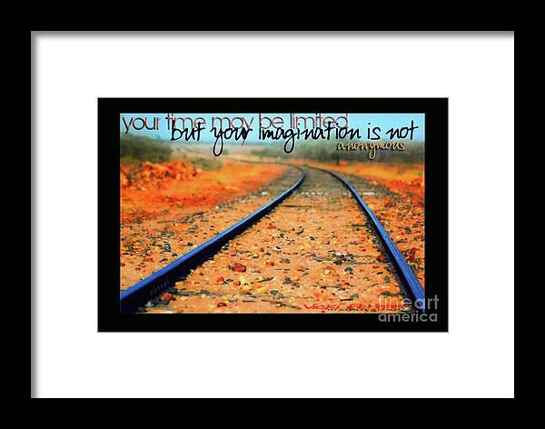 Imagination Framed Print featuring the photograph I M A G I N A T I O N by Vicki Ferrari