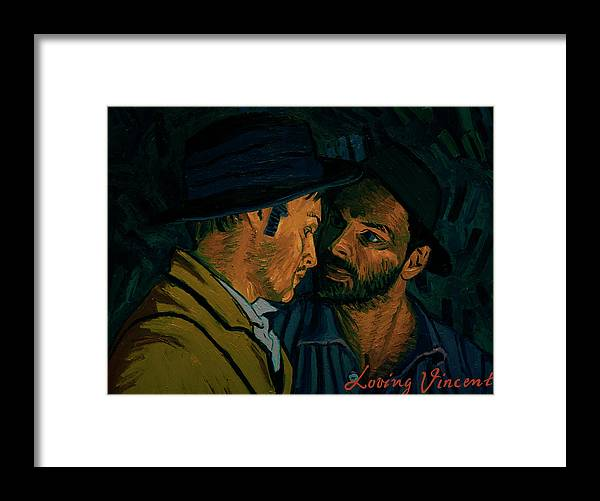 Framed Print featuring the painting I Never Said I Was by Olga Krolak