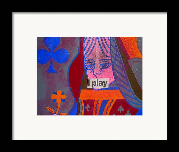 Queen Framed Print featuring the painting I Play by Heinrich Haasbroek