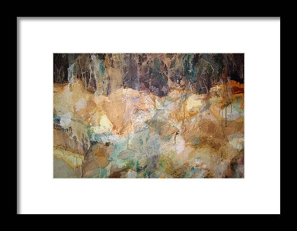 Abstract Landscape Framed Print featuring the painting I Remember by Carol Everhart Roper