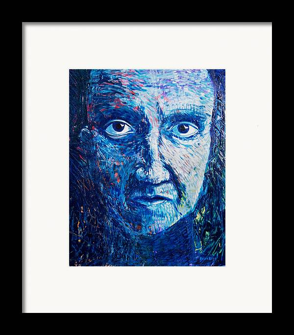 Blue Framed Print featuring the painting I See You In So Many Ways by Rollin Kocsis