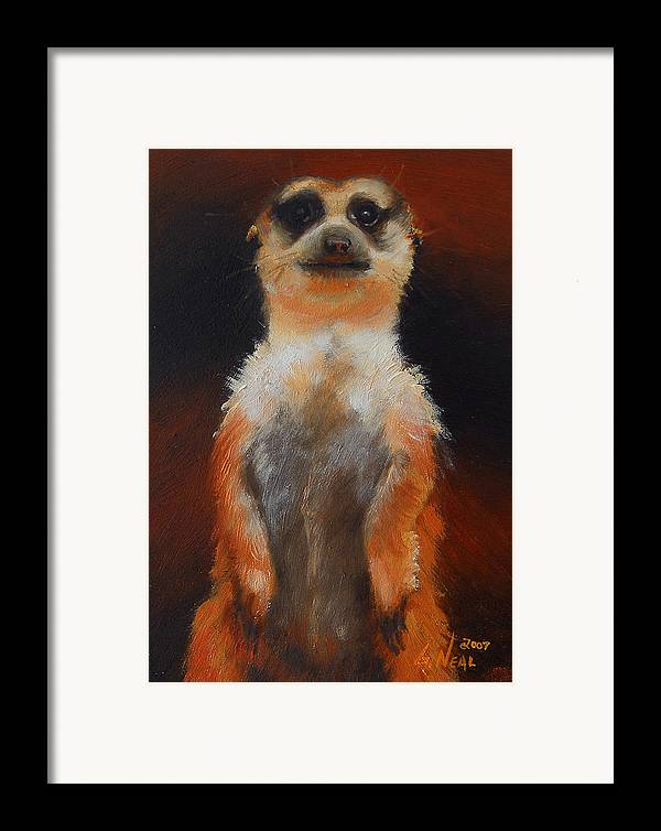 Oil Framed Print featuring the painting I See You Too by Greg Neal