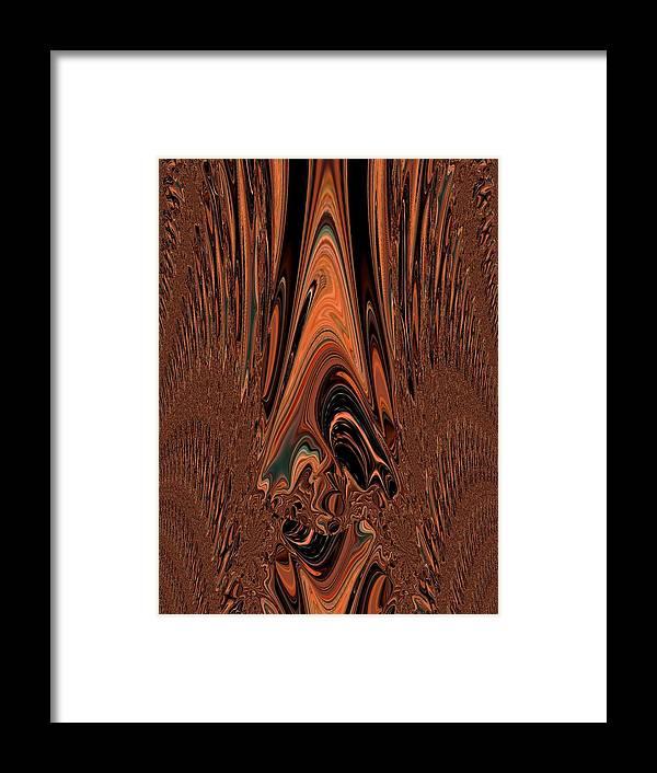 Clown Framed Print featuring the digital art I Think I Am Sad-said The Little Clown by Sherri's - Of Palm Springs