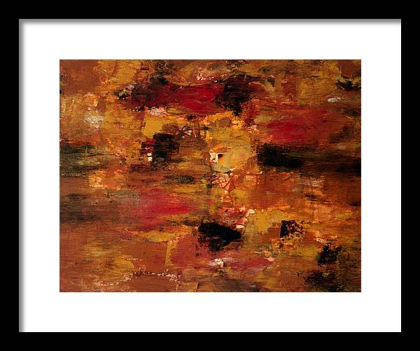 Abstract Art Framed Print featuring the painting I Thought It Was Over by Shiree Gilmore