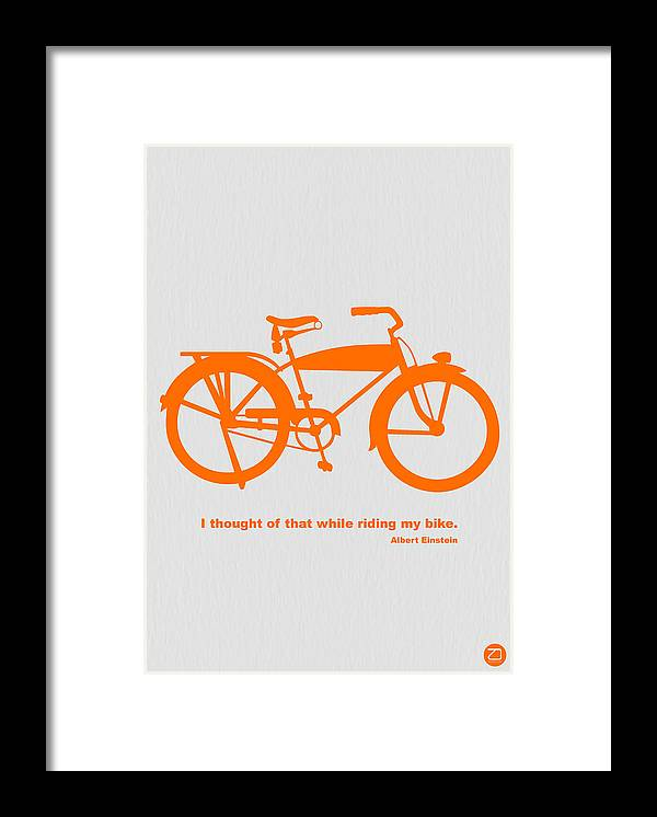 Framed Print featuring the photograph I Thought Of That While Riding My Bike by Naxart Studio