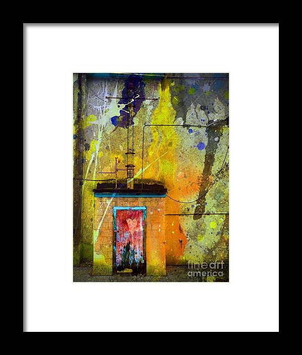 Door Framed Print featuring the photograph I Wear My Heart On The The Door by Tara Turner