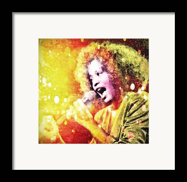 Whitney Houston Framed Print featuring the digital art I Will Always Love You by Mo T
