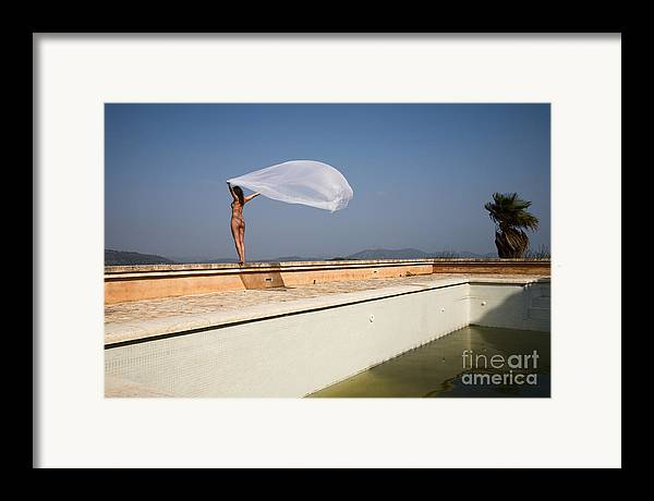 Sensual Framed Print featuring the photograph I Will Fly To You by Olivier De Rycke