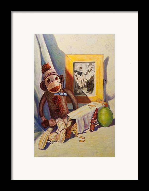 Children Framed Print featuring the painting I Will Remember You by Shannon Grissom