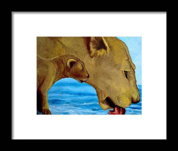 Glass Painting Framed Print featuring the painting I Will Show You Life by Glory Fraulein Wolfe