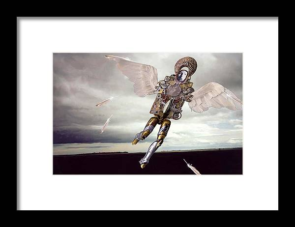 Surreal Framed Print featuring the digital art Icarus by Evelynn Eighmey