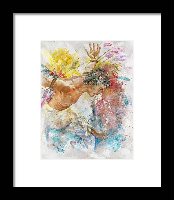 Man Framed Print featuring the painting Icarus by Rineke De Jong