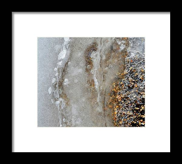 Abstract Framed Print featuring the photograph Ice And The Beach Two by Lyle Crump