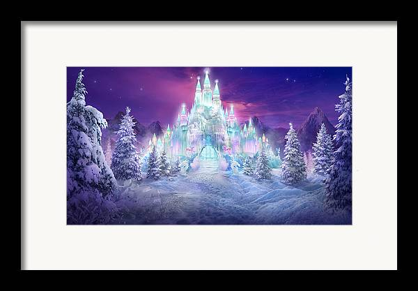 Philip Straub Framed Print featuring the mixed media Ice Castle by Philip Straub