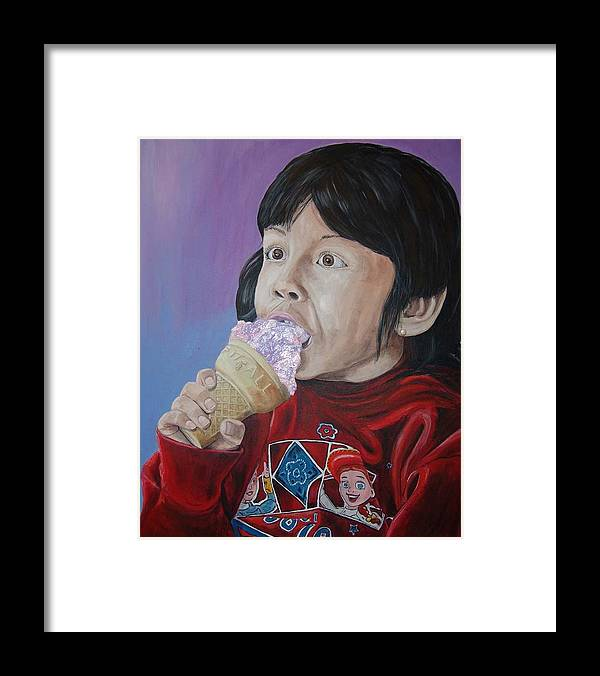 Kevin Callahan Framed Print featuring the painting Ice Cream by Kevin Callahan