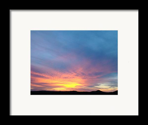 Sunset Framed Print featuring the photograph Ice Cream Sunset by Ana Villaronga