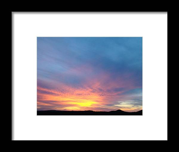 Sunset Framed Print featuring the photograph Ice Cream Sunset by Ana Villaronga