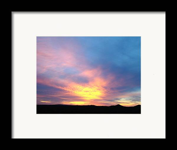 Landscape Framed Print featuring the photograph Ice Cream Sunset Three by Ana Villaronga