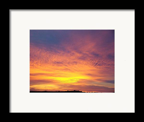 Landscape Framed Print featuring the photograph Ice Cream Sunset Two by Ana Villaronga