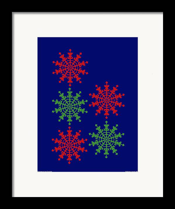 Framed Print featuring the digital art Ice Crystals by Al