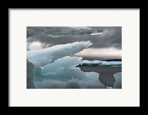 Ice Framed Print featuring the photograph Ice Drama by Elisabeth Van Eyken