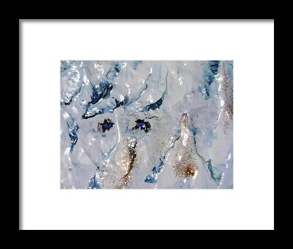 Art Framed Print featuring the painting ice by HollyWood Creation By linda zanini