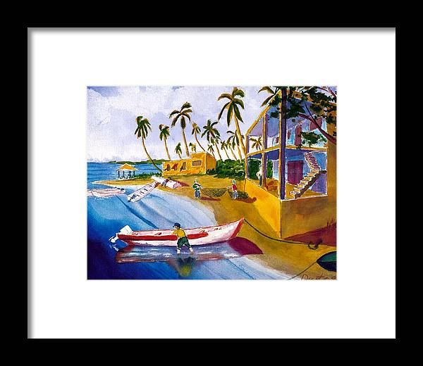 Seascape Framed Print featuring the painting Ice House by Buster Dight