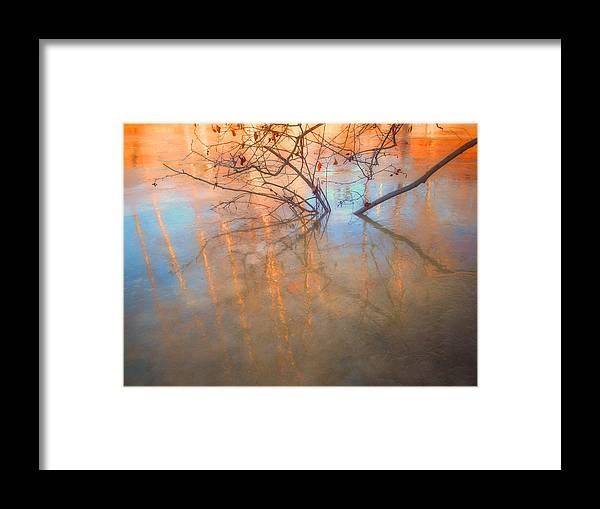 Ice Framed Print featuring the photograph Ice Reflections 2 by Tara Turner