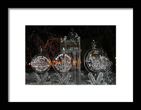 Ice Sculpture Framed Print featuring the photograph Ice Sculpture by Laurie Prentice