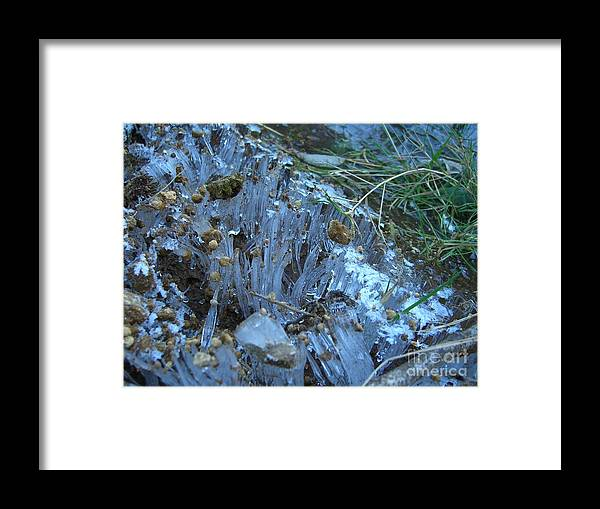 Ice Framed Print featuring the photograph Ice Shards by Jim Thomson