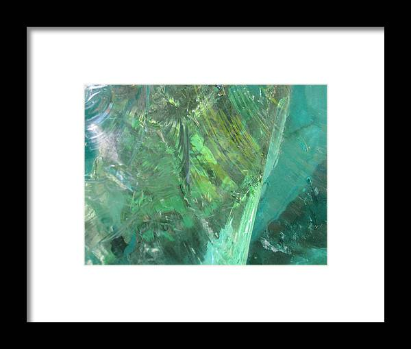 Close Up Impressionist Stone Framed Print featuring the photograph Ice Stone No.2 by Belinda Consten